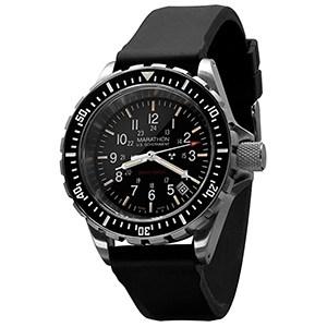Marathon Watch WW194007 Tsar Swiss Made Military Issue Milspec Diver's Quartz Watch Black
