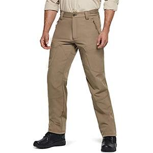 CQR Men's Winter Waterproof Softshell Tactical Hiking Cargo Pants (Coyote)