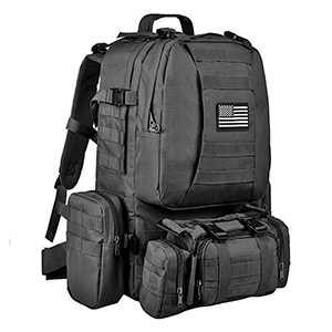 CVLIFE Tactical Military Backpack Black
