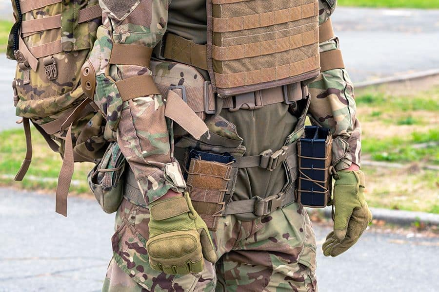 Fully equipped tactical outfit
