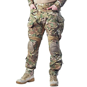 IDOGEAR G3 Combat Pants Multicam Men Pants with Knee Pads Airsoft