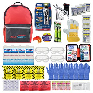Ready America 72 Hour Deluxe Emergency Kit, 4-Person 3-Day Backpack